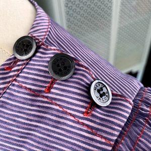 Marc By Marc Jacobs Tops - Marc by Marc Jacobs Striped Ruffle Button Top